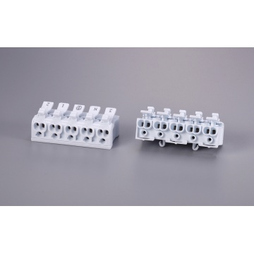 5 Poles Multipolar Wire Connector With Release Button