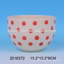 2016 Chegada Nova Pontos De Cerâmica Nesting Bowl Atacado