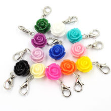 2016 Flower Resin Fashion Dangle Charms