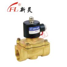 Agua aceite o aire válvula de solenoide de cobre amarillo