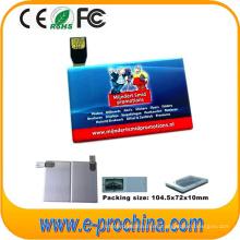 Tarjeta de crédito barata al por mayor 2 ~ 16 GB USB Flash Drive para muestra gratis