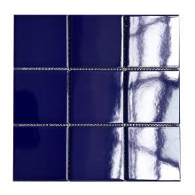 Blue swimming pool tile for sale non-slip ceramic mosaic