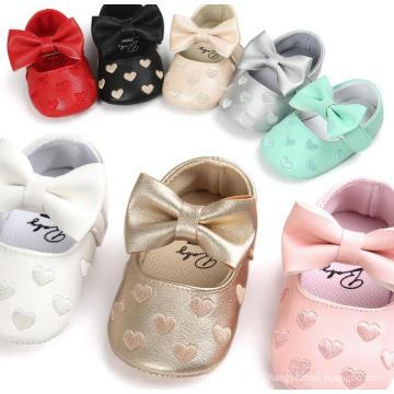 Zapatos de bebé Antideslizante Soft Sole Girls Niño Mocasines holgazán