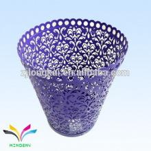 Beautifuy Produkte liefern Blumenform dekorative Metall Mülleimer