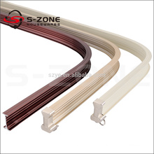 single&double aluminium ceiling curtain track for home decoration