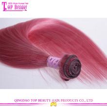 Tecer de fábrica preço superior da classe 7a Tissagem cabelo humano direto rosa