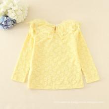 Velo undershirts crianças outono roupas de alta qualidade lace meninas inverno lonh manga Tee quente macio crianças tee