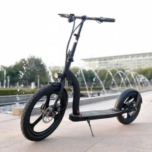 Freio de disco de 16 polegadas com roda traseira dobrável scooter