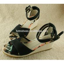 Melhor qualidade fancy saltos sandálias sapato wome sandália borracha