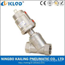"""stainless steel angle type needle valve, SS304 actuator and body, KLJZF-1/2""""SS, thread connection"""