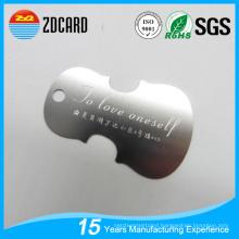 OEM Brushed Etched Laser out Copper Corrosion Metal Card