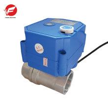 dn15 dn20 CWX-25S 12V válvula de agua eléctrica de acero inoxidable de 2 vías