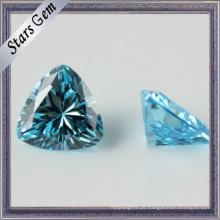 Alta qualidade coração forma zircônia sintética gemas pedra para jóias