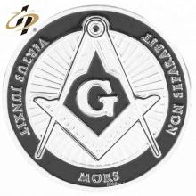 Personnalisé vos propres pièces d'argent en métal maçonnique souvenir avec logo émail