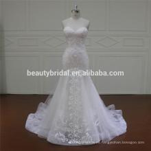 XF16036 más nuevo diseño de vestido de novia de vestidos de novia de la sirena 2017