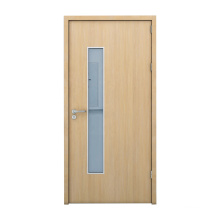 1.0 wood grain steel plate single steel door for hospital clinic doors