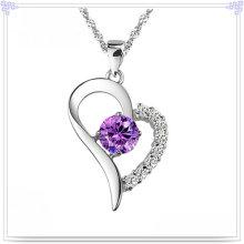 Colar de pingente de cristal 925 jóias de prata esterlina (NC0012)