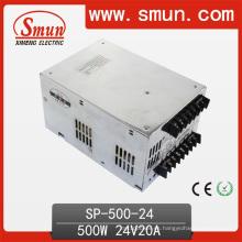 High Effciency 500W 24V Fuente de alimentación con Pfc