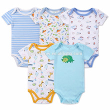 New Born Baby Clothing Combed Organic Cotton Baby Romper For Summer