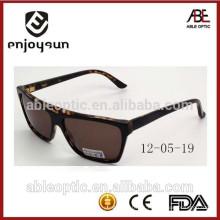 Gafas de sol hechas a mano 2015 del acetato del color marrón de la señora demi