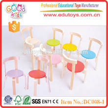 2015 Fancy design and high quality solid wood preschool chairs for children