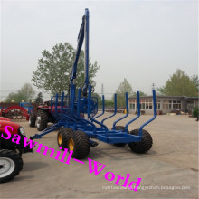 Wood Loading Trailer with Crane