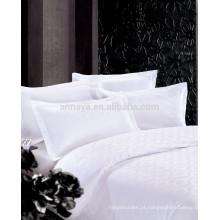 Luxo Jacquard Hotel Bed Cobertura Folha Folha Set 4 Peças 250T 300T