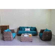 Top Selling Natural Water Hyacinth Sofa Set Indoor Furniture for Living Room