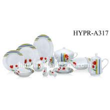China Productos Caliente Venta al por mayor cena de porcelana 50pcs / Hunan vajilla artículos Cena Set / Cena cuadrada moderna Set