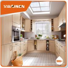 Reasonable & acceptable price pvc door kitchen cabinet