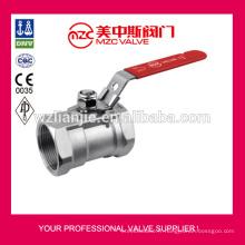1000WOG robinets à tournant sphérique 316 1PC avec poignées verrouillables 1PC robinets à boisseau sphérique