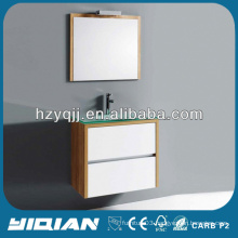 Modern Small Bathroom Wall Hung Cabinet Cheap Tempered Glass Basin MDF Bathroom Cabinet