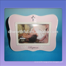 Decorative ceramic baby frame for the first year to souvenir