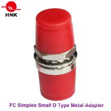 FC Simplex Metal D pequeno adaptador de fibra óptica