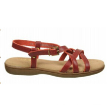 Sandales à bretelles en cuir et à capuche