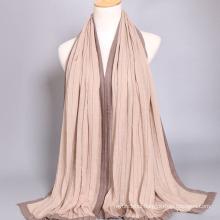 Wholesale cotton material bohemian cape women muslim scarf hijab