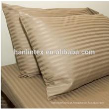 Tela de cetim de alta qualidade de algodão listras para hotel / tecido de algodão egípcio