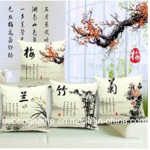 O Sofá Elegante Estilo Chinês / Cadeira De Escritório Travesseiro Almofada De Algodão De Linho