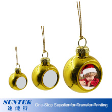 Personalized Christmas Presents DIY Christmas Tree Ball Multiple Colors Plastic Christmas Decoration Ball with Logo 4cm
