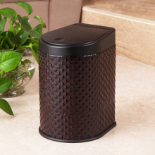 Wine Leather Press Garbage Bin (H-3LM)