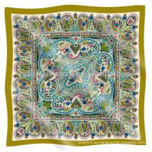 Bufanda de seda musulmana de calidad superior pero barato Paisley Design