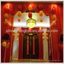 Cortina de pano de fundo Shimmer / fantasia de fantasia cortina de palco vermelho