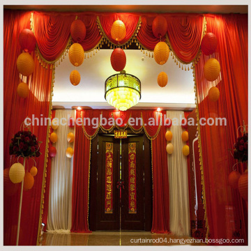 Shimmer backdrop curtain/fancy valance red stage curtain