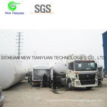 Cryogenic 30-68m3 Loading Capacity Liquifying LPG Tank Container Semi-Trailer