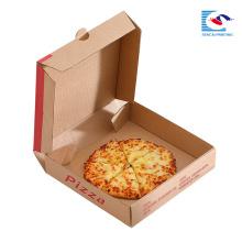 подгонянная коробка пиццы гофрированной бумаги с собственным логотипом