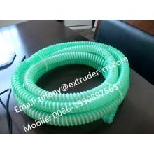 Melhor qualidade PVC reforçado espiral linha de extrusão de mangueira