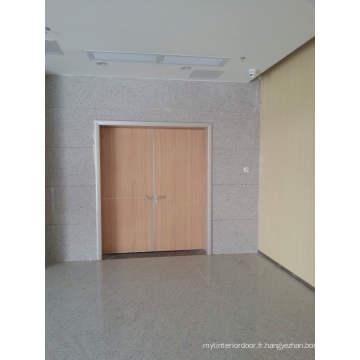 Porte en bois intérieure de luxe élevée, double porte principale à haute production