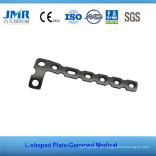 Placa de Shped do implante ortopédico T do osso do trauma do metal