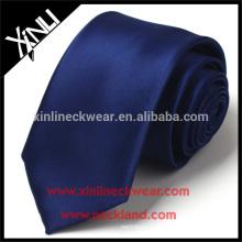 Trockenreinigung Nur 100% handgemachte Polyester Jacquard Woven Navy Blue Krawatte