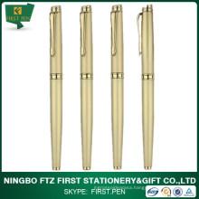 Top Quality Luxury Golden Metal Barrel Roller Tip Pen For Giftware